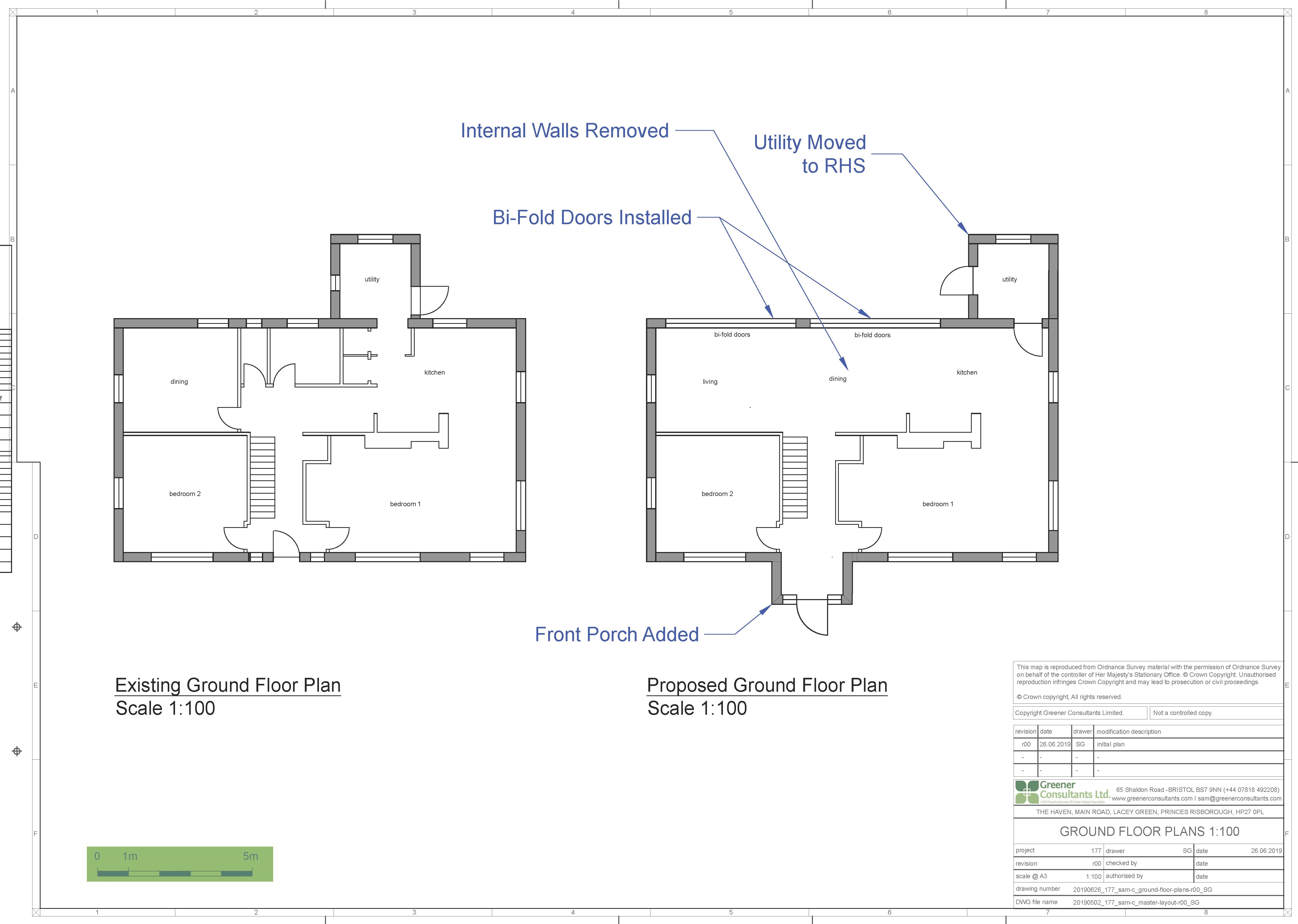 bristol floor plans, buckinghamshire floor plans, building amendments, extensions